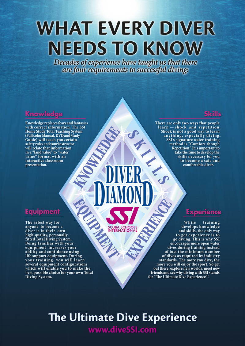 Poster Diver Diamond
